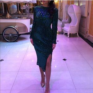 ASOS embellished emerald Green midi dress